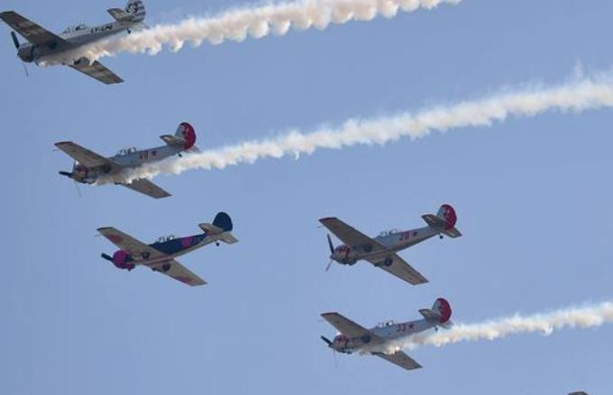 2019년 중국국제제너럴항공대회 푸른 하늘에서 상연된 '화려한 댄스'
