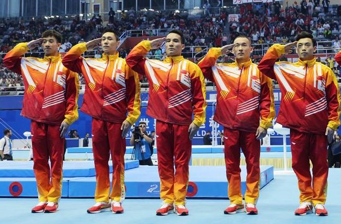 체조—中 남자 단체전 결승전서 우승