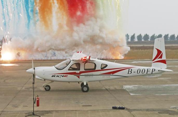中 첫 4인승 전기항공기 처녀비행에 성공