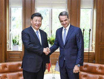 시진핑 中 국가주석, 미초타키스 그리스 총리와 회담