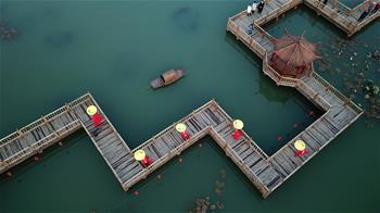 허베이 쳰안: 수상공원으로 변신한 시골 쓰레기 구덩이