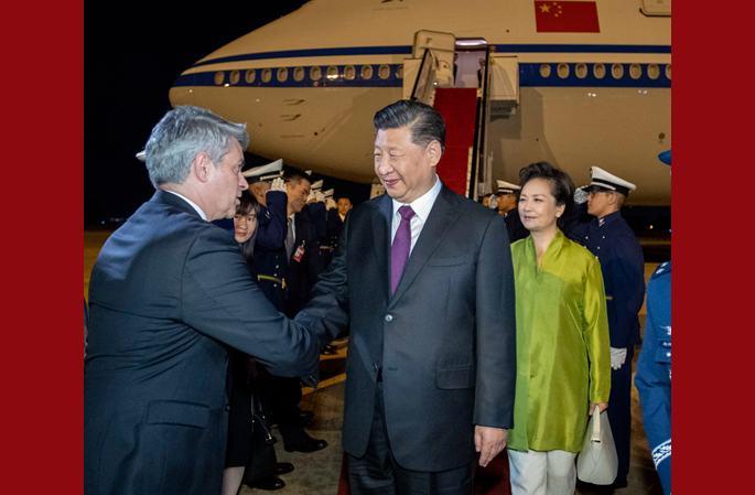 시진핑 주석, 브라질리아 도착…제11차 브릭스 정상회의 참석