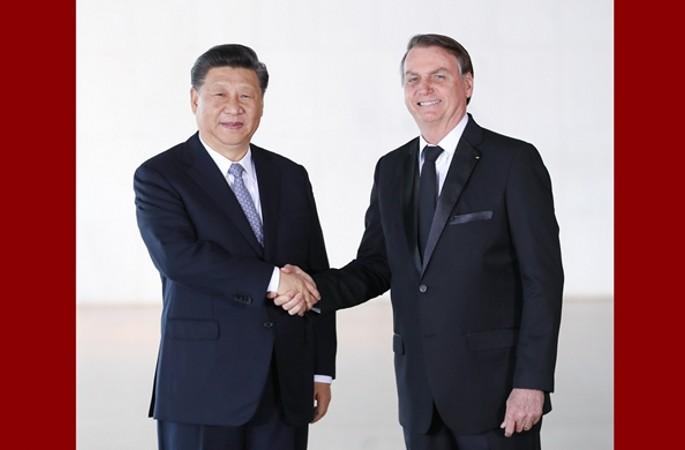 시진핑 中 국가주석, 보우소나루 브라질 대통령과 회담