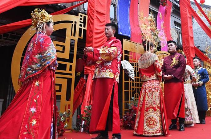 고성에서 열린 중국식 전통혼례