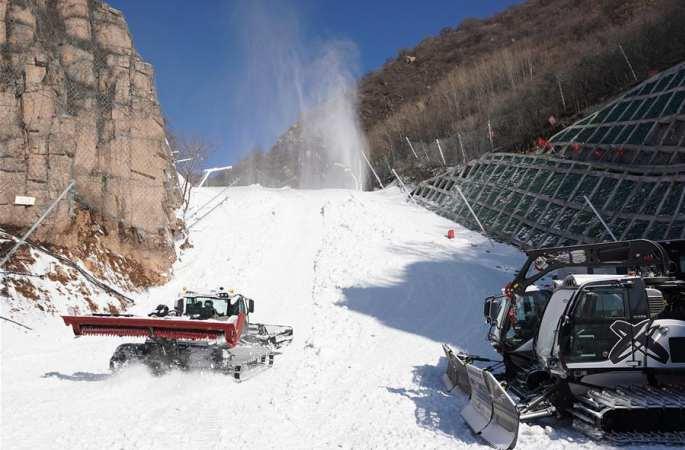 中 국가 알파인스키 경기장 위용 드러내…베이징 동계올림픽 첫 프레올림픽 성공 개최 보장