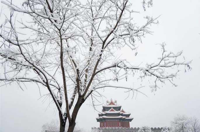 새해 첫눈 내린 베이징