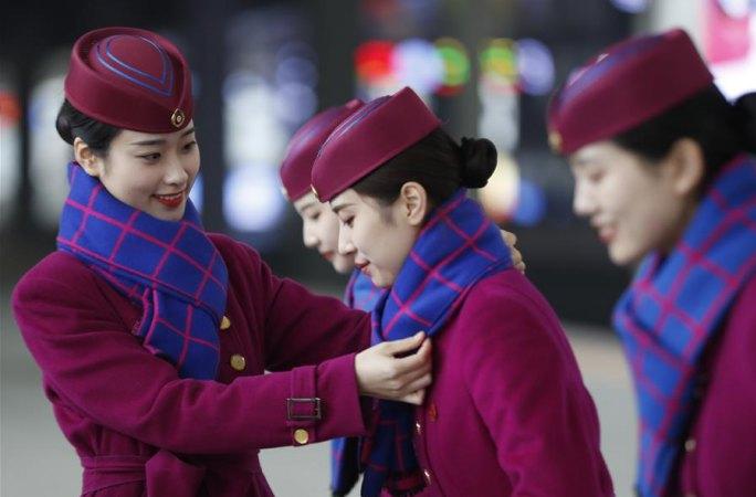 충칭: 춘윈맞이 고속철 승무원 교육 실시