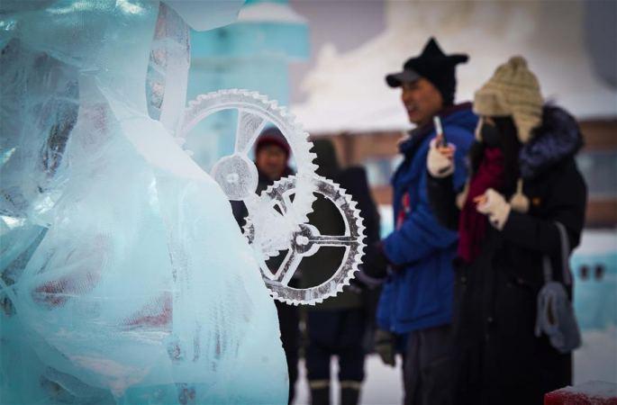 하얼빈국제얼음조각대회 폐막