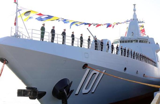 해군 055형 구축함 난창함 취역