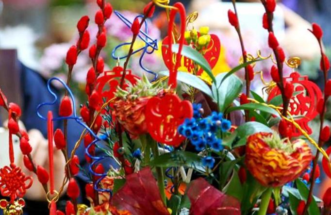 베이징: 새해맞이 꽃전시회