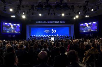다보스 세계경제포럼, 창설 50주년 경축
