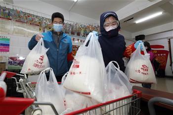 우한: 지역사회·매장 협력, 시민 생필품 공급 보장