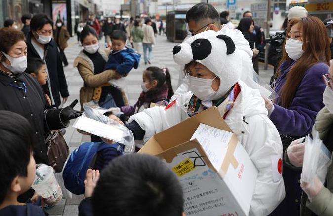 '판다', 마스크 기부—재일 화교교민 자원봉사자 일본 국민에 보답