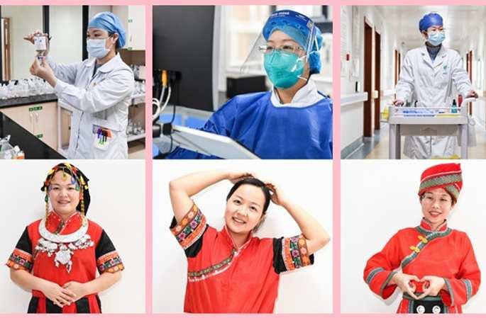 눈부신 방역 일선의 여성 의료진