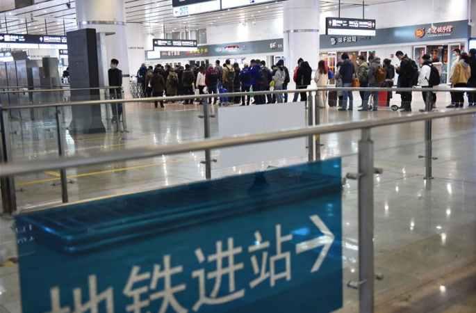 베이징: 아침 지하철 이용객 제한
