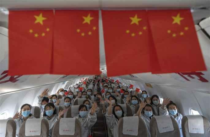 후베이 지원 일부 의료팀, 우한서 철수