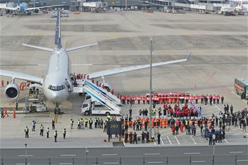 후베이 지원 상하이 의료진 160명 상하이 복귀