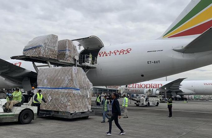 아프리카 54개국 방역 지원 중국 물자, 에티오피아에 도착