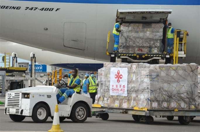 中 아프리카 지원 방역 물자 가나에 도착