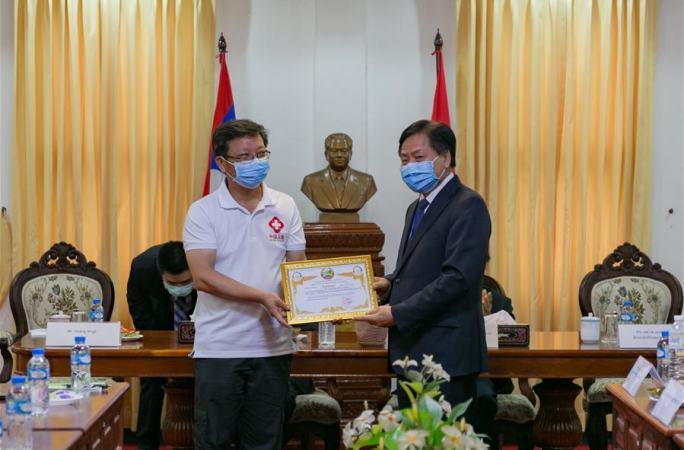 중국 전문가팀, 라오스 의료 및 방역 핵심자 교육 종료