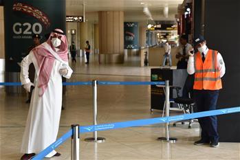 코로나19 사태 속 사우디아라비아 공항