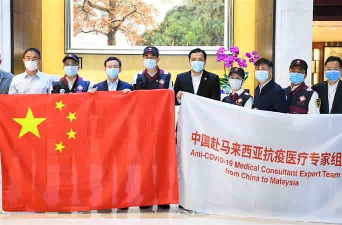 말레이시아 파견 중국 방역의료 전문가팀 광저우서 출발