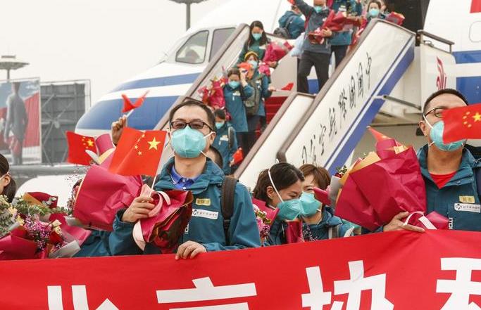 우한 지원 마지막 국가의료팀—베이징 셰허병원 의료팀 베이징 복귀
