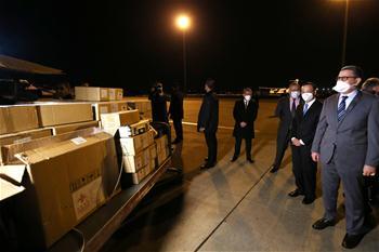 중국, 알제리에 의료물자 기부…현지 공항 도착