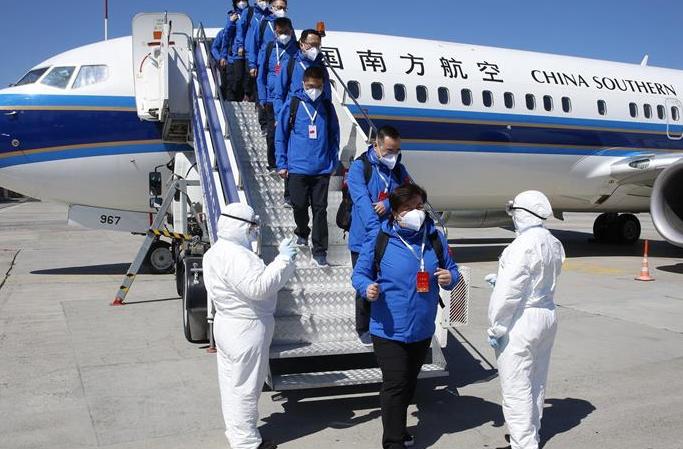 키르기스스탄 지원 중국 합동 업무팀 비슈케크 도착