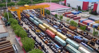 중국-유럽 화물열차, 방역물자 가득 싣고 헝가리로 출발