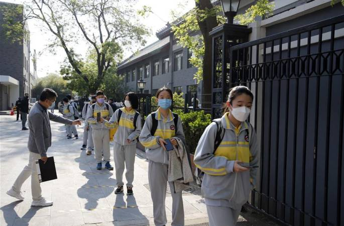베이징 근 5만명 고3학생, 순조롭게 학교 복귀