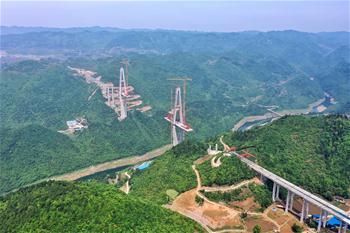 구이저우 쭌위 고속도로 샹장대교 건설 순조롭게 추진