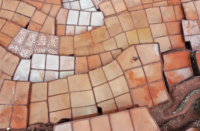 란창강 호반 염전