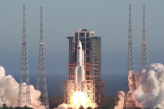 창정5호B 운반로켓, 첫 발사에 성공…中 유인 우주비행 프로젝트 '제3단계' 임무 가동