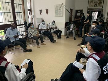 中 방역 의료 전문가팀, 코트디부아르 코로나19 지정병원 시찰
