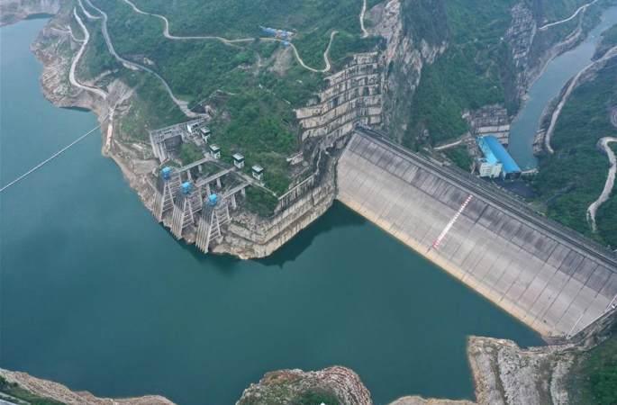 구이저우 훙자두 수력발전소 부감