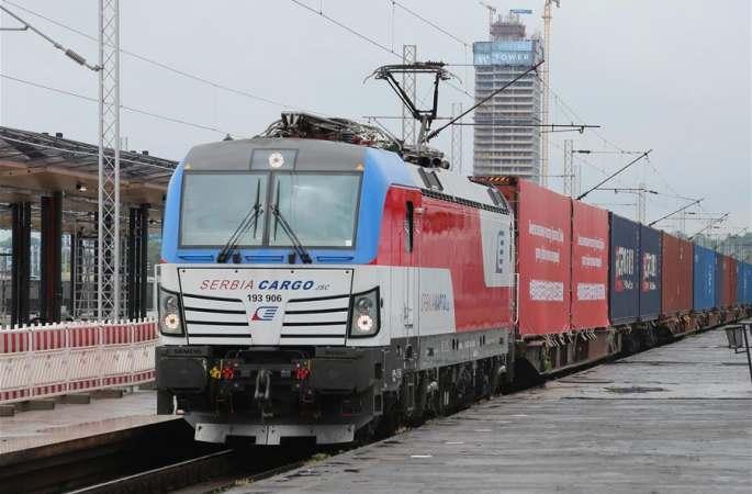 中-유럽 화물열차 국제협력 방역물자 전용열차, 세르비아에 도착