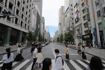 일본 도쿄 긴급사태 해제 후 첫 주말