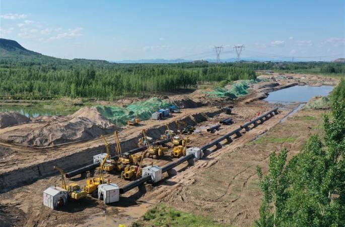 허베이 롼허 구간 中俄 동부 노선 천연가스관 설치 공사 한창