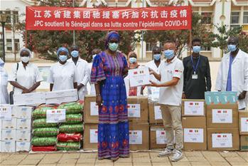 세네갈 아동병원 지원 중국 프로젝트팀, 현지 방역 도와