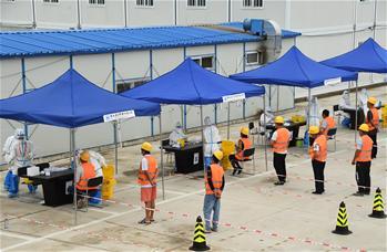 베이징 하이뎬: 건축 공사장 근로자 핵산검사 강화