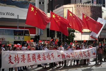 홍콩 시민, 홍콩 국가안보수호법 실시 지지