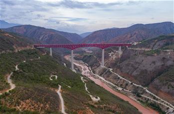 中-라오스 철도 위안장 복선특별대교 접합