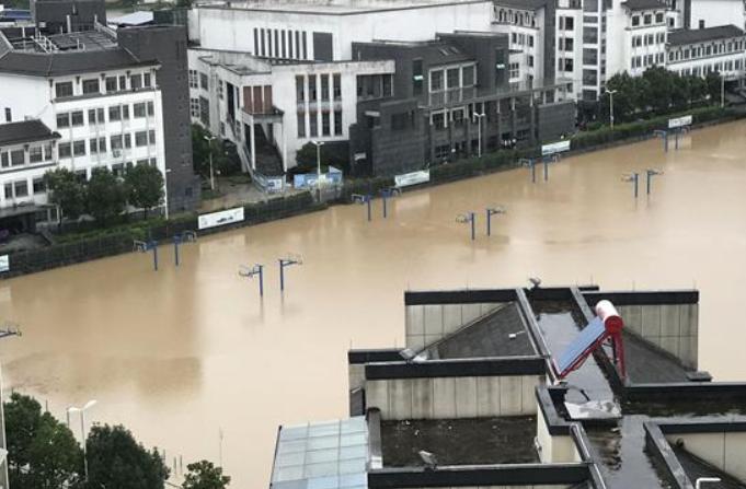 안후이 서현, 막대한 홍수재해 입어