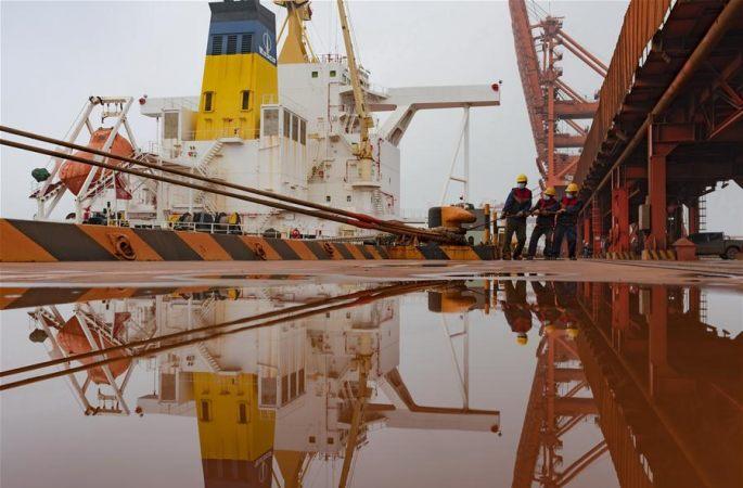 차오페이뎬 항구, 상반기 대외무역 물동량 9천만t 초과