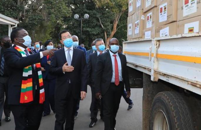 중국, 짐바브웨에 진단키트 등 방역 물자 기부