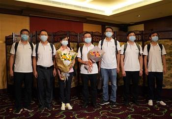 '내지 핵산검사 지원팀' '선발대' 7명 대원 홍콩에 도착