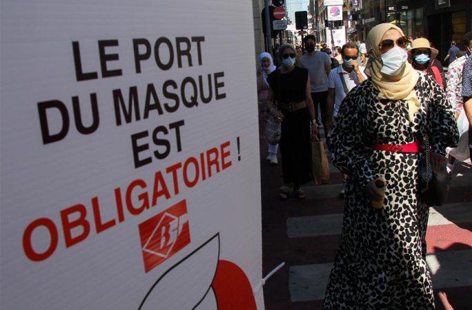 브뤼셀: 코로나 시대의 외출 '필템' 마스크