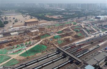 시안 기차역 증·개축 공사 안정적 추진