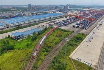 중국-유럽 화물열차(청두) 안정적으로 운행